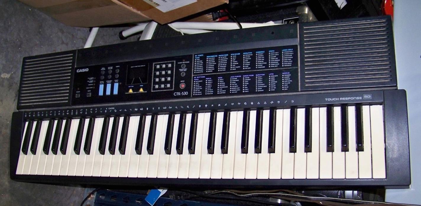Used Casio CTK-530 Electronic Keyboard