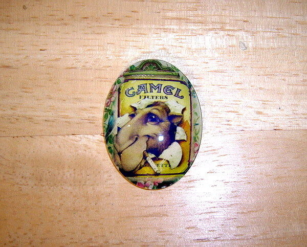 30X40mm Vintage Camel AD Glitter Unset Handmade Art Bubble Cameo Cabochon