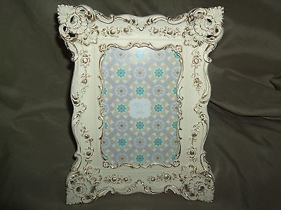 ORNATE PICTURE FRAME IVORY WITH GOLD TRIM -- NEW -- for 4