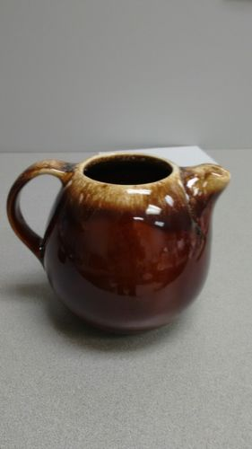 HULL Pottery Brown Drip Pot Oven Proof stoneware