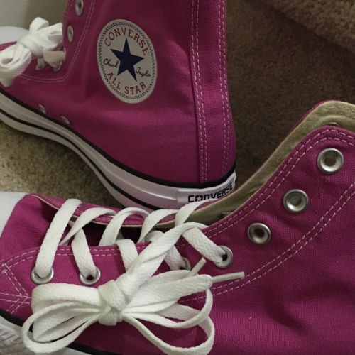 CONVERSE All Star Chuck Taylor High Top FUCHSIA Uni Men/12 Women/14 Hi Sneakers