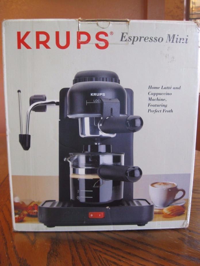 KRUPS 4-Cup Espresso Mini 963 Cappuccino Coffee Machine Maker Black NEW in box