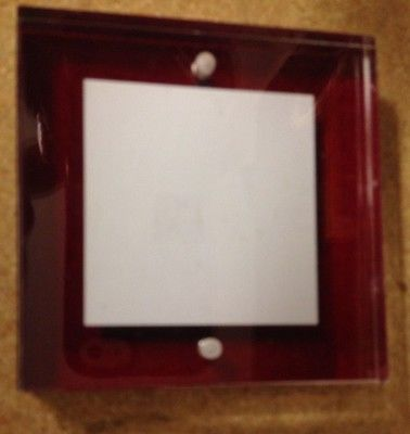 Clear Red Acrylic Photo Frame 3 x 3