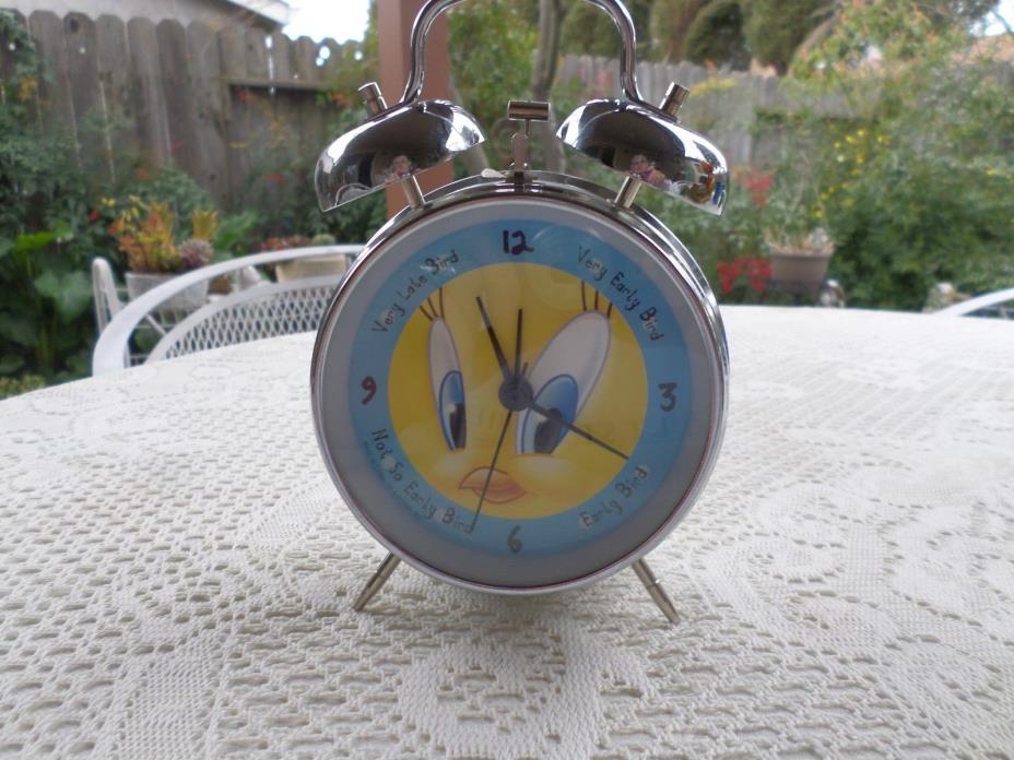 Tweety Bird Wind Up Alarm Clock - 1998 Warner Bros