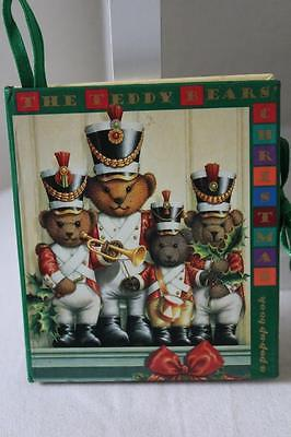 Vtg 1994 Armand Eisen Ariel 'The Teddy Bears Christmas' Mini POP-UP BOOK ~ (19)