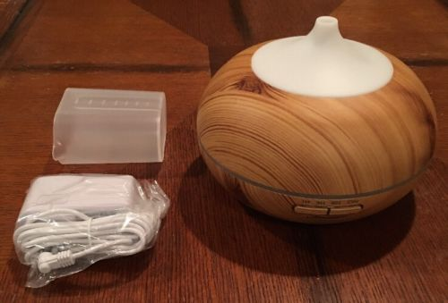 Aromatherapy Essential Oil Diffuser URPOWER 300ml Wood Grain Ultrasonic Mist