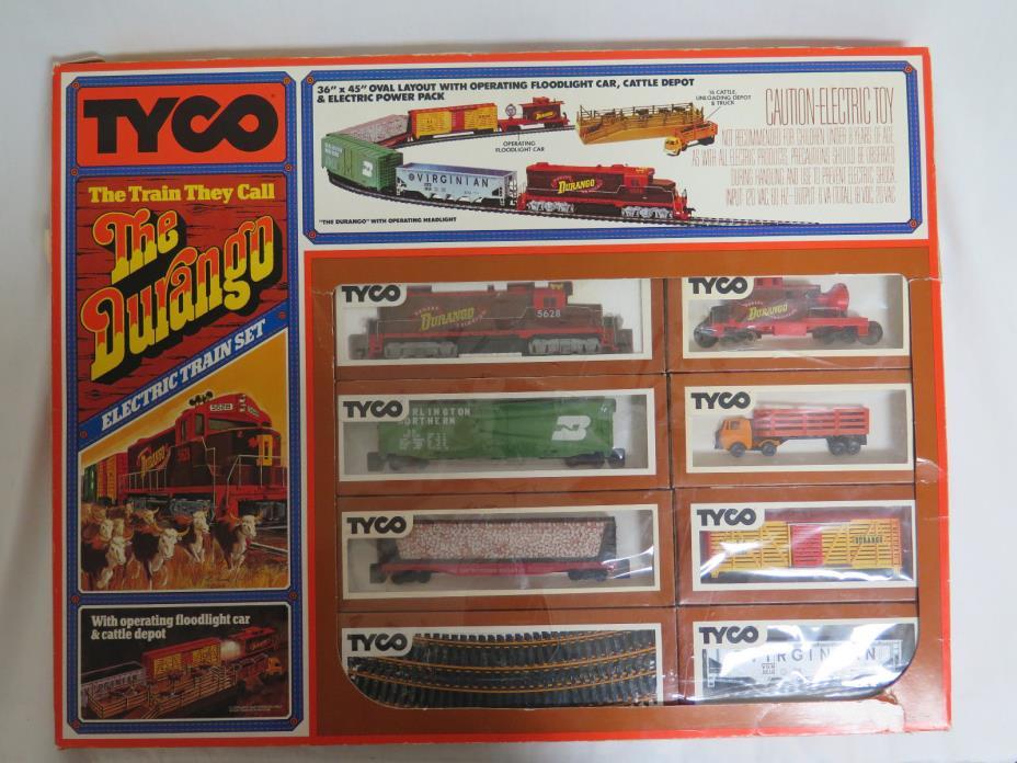 Vintage 1970's Tyco HO Scale The Durango Electric Train Set #7318 Original Box