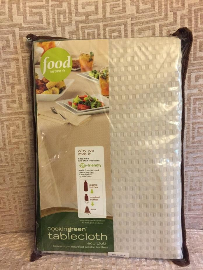 Tablecloth NIP Rectangle NWT 60 x 120 Eco Friendly Rectangular Food Network
