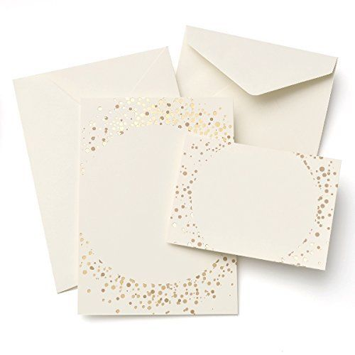 Brides Gold Glitter and Foil Dot 30-count Invitation Kit