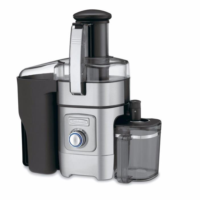 Cuisinart Stainless Steel and Black Fruit and Vegetable Pulp Juice Extractor