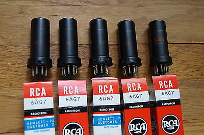 5 VINTAGE 6AG7 tubes, All NEW NOS RCA