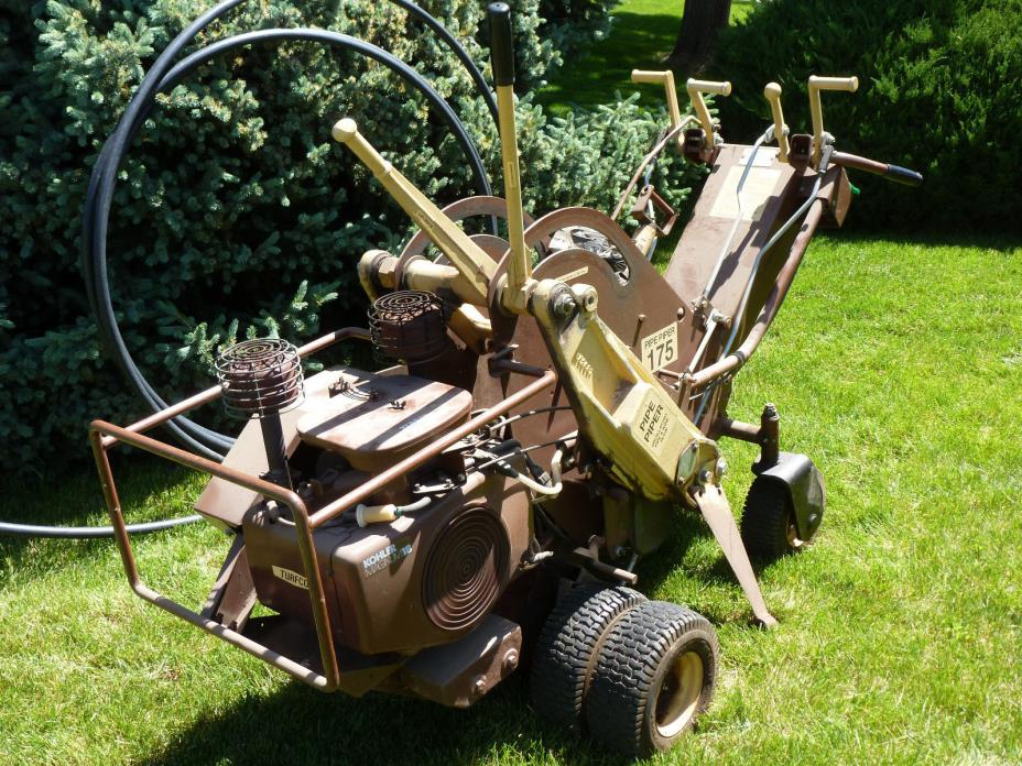 Turfco Pipe Piper 175 Trencher for installation of sprinkler irrigation pipe