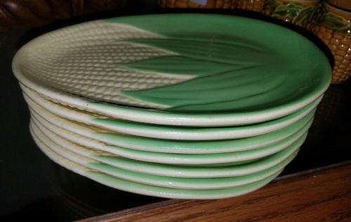 VINTAGE Terrace Ceramics CORN DESIGN SMALL PLATES -LOT OF 7- Shawnee Molds