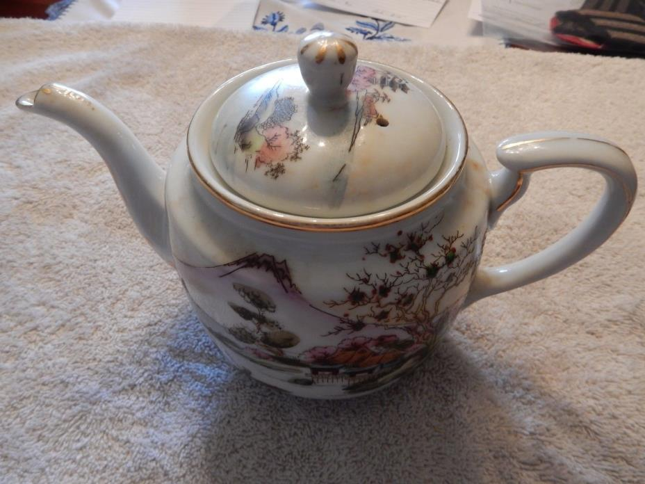 Vintage Hand Painted Japanese Teapot, Excellent Condition