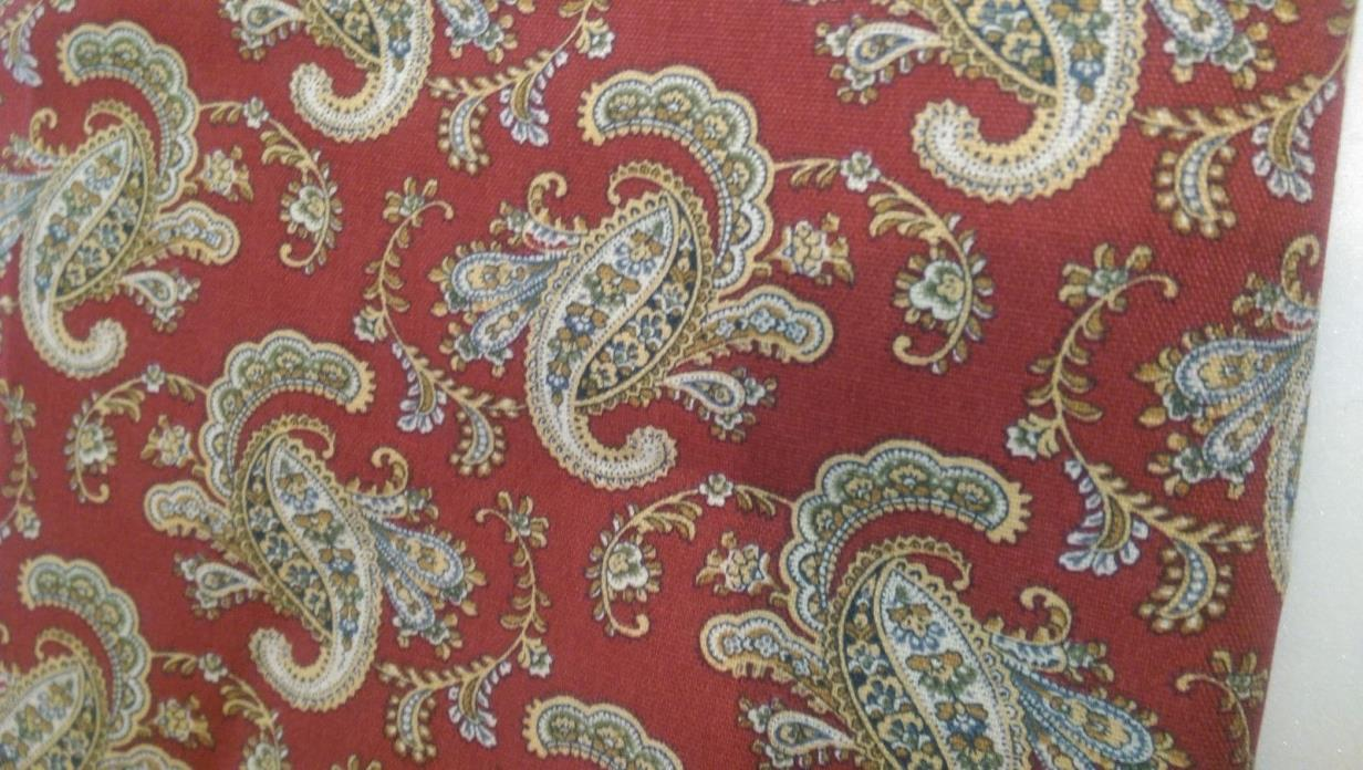 Paisley Red Fabric, Home Decor. 1.5 yards