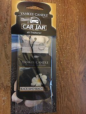 YANKEE CANDLE car jar air freshener - BLACK SAND BEACH