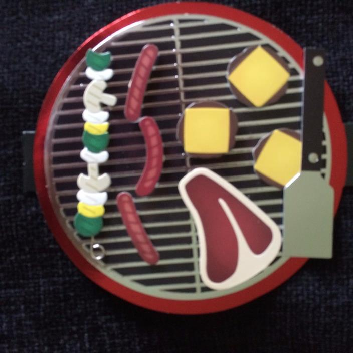 Card Birthday Bar B Que Grill Hot dogs Hamburgers Barbeque NEW Hallmark