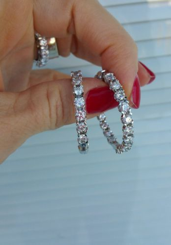 Diamond earrings in & out hoops 8.80 carats G/SI 17,500.00