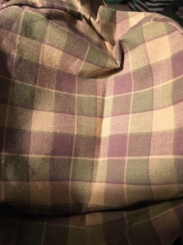 Longaberger Homestead Exclusive Fabric Button Basket Liner - Sage & Lavender