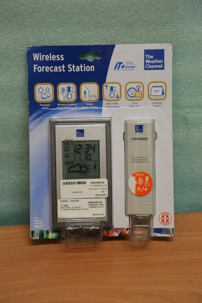 NEW The Weather Channel 9077 Wireless Forecast Station by La Crosse