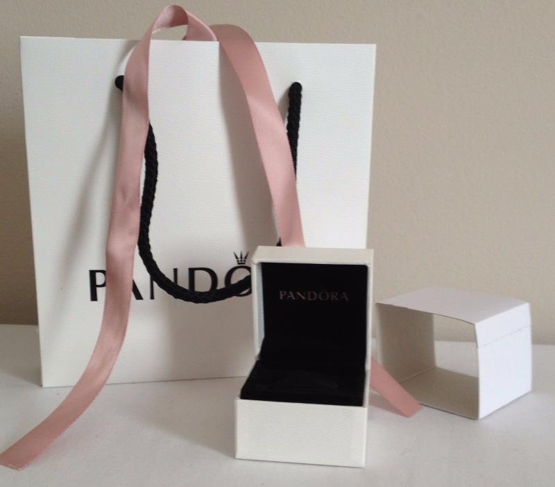 Pandora Gift Bag and White Charm Ring Box