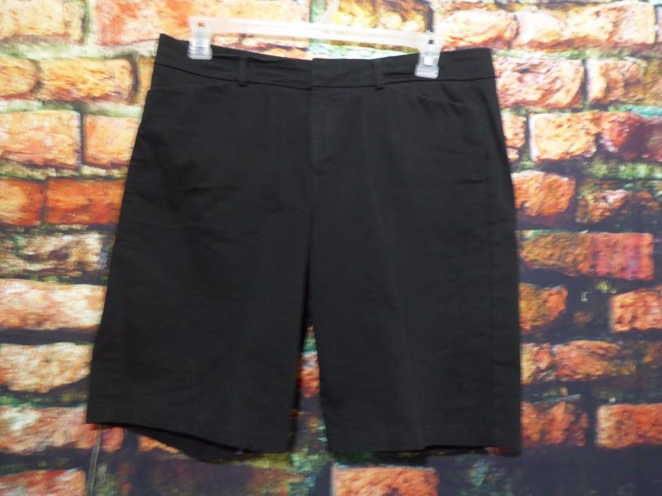 Womens Dockers dress golf Shorts black cotton blend 4 pockets SZ 14 36 x 20