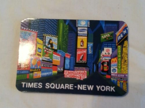 Business Card Accordion Address Book Magnetic Times Square - New York