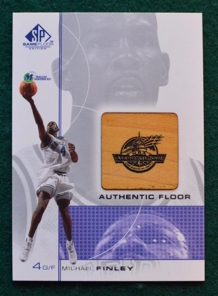 Michael Finley Authentic Floor basketball card 2000 Dallas Mavericks All-Star SP