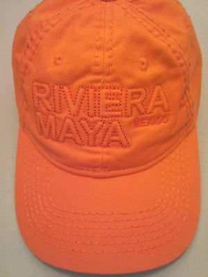Mexico Riviera Maya Baseball Cap Hat Caribbean Side Fitted Vacation One Size
