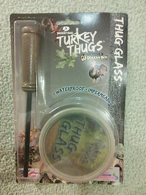 Quaker Boy Mossy Oak Turkey Thugs Thug Glass Call 99405 Pot