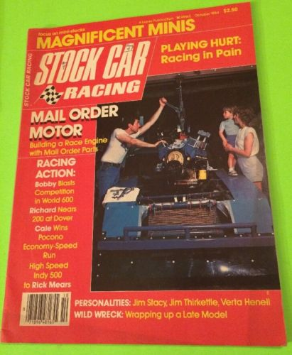 STOCK CAR RACING MAGAZINE, OCTOBER 1984, VINTAGE, NASCAR,  MINI'S