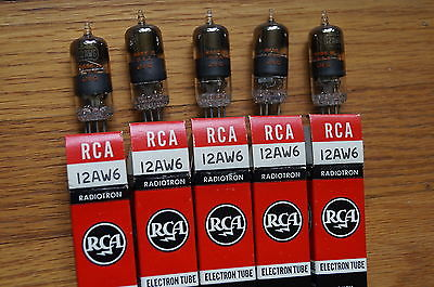5 VINTAGE 12AW6 tubes, All NEW NOS RCA,Full Sleeve