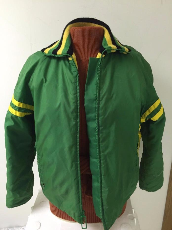 Vtg 80s John Deere Women's Snowmobile Ski Suit Sz Medium Jacket, Overall Packers