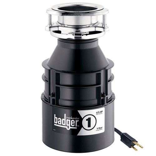InSinkErator Badger 1- 1/3 HP Garbage Disposal WITH CORD