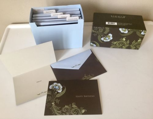 Box of 20 Greeting Cards ~ Birthday ~Thank You ~ Blank Inside ~ Hello SICURA