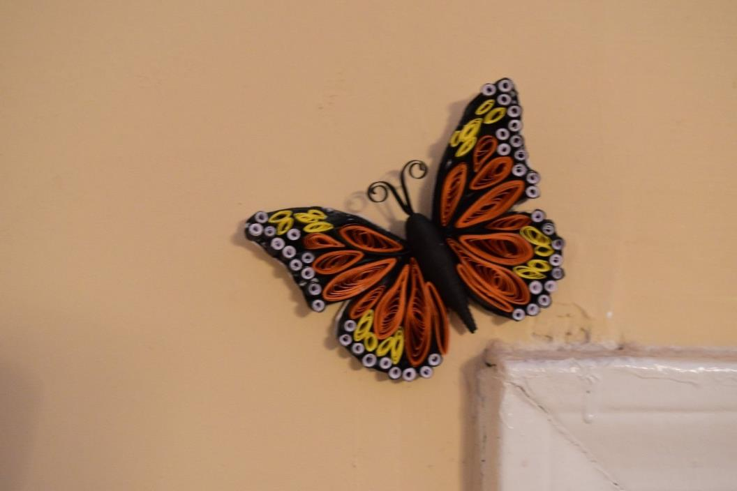 Quilled Window Wall Decor Butterfly