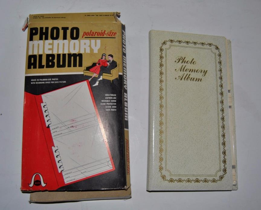 Vintage Polaroid Photo Album Made in Japan Holds 40 photos in box