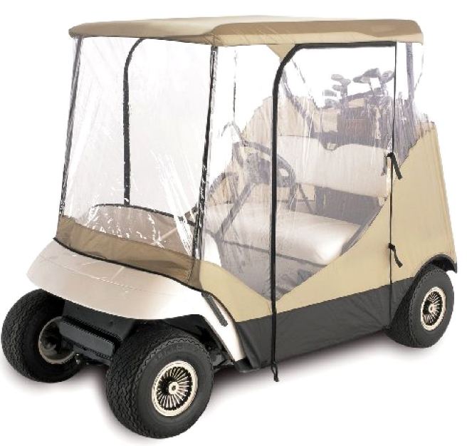 Electric Golf Cart Covers 2 Passenger Rain Cover Ezgo 4-Sided Golf Cart Travel E