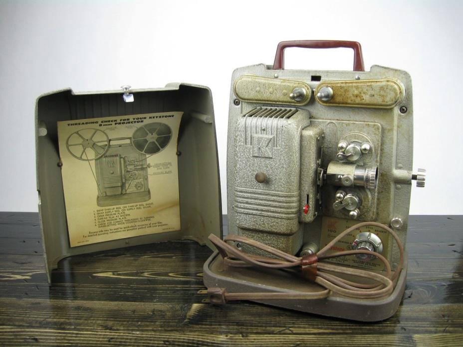 Vintage Keystone K100 8 mm Movie Projector for Parts