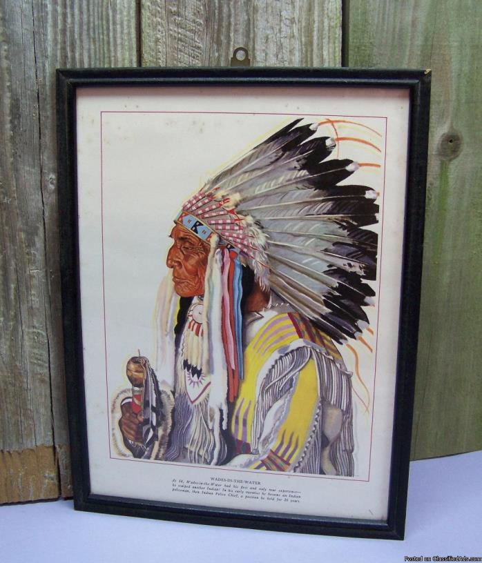 AntiqueNative American Wades-In-The-WaterBlackfoot Indian Police...