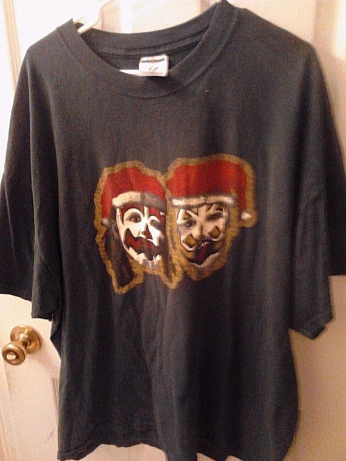 Insane Clown Posse Christmas T-shirt - Shaggy and J santa USED - good shape XXXL