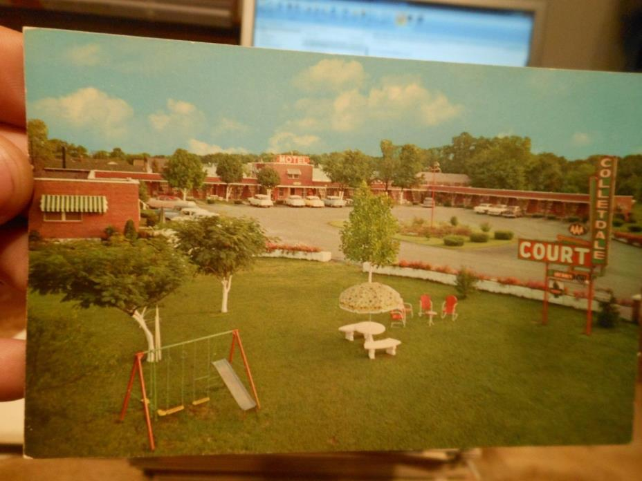 Vintage Old KENTUCKY Postcard Bowling Green Colletdale Motel Playground Signs