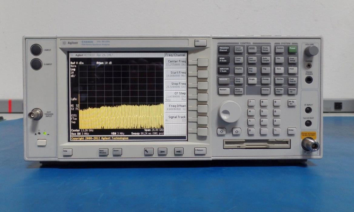 Agilent E4440A-115-1DS-204-210-219-266-B78-B7J-BAF-H70 Spectrum Analyzer Tested