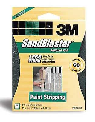 3M SandBlaster 20918-60 Paint Stripping Sanding Sponges, Coarse 60