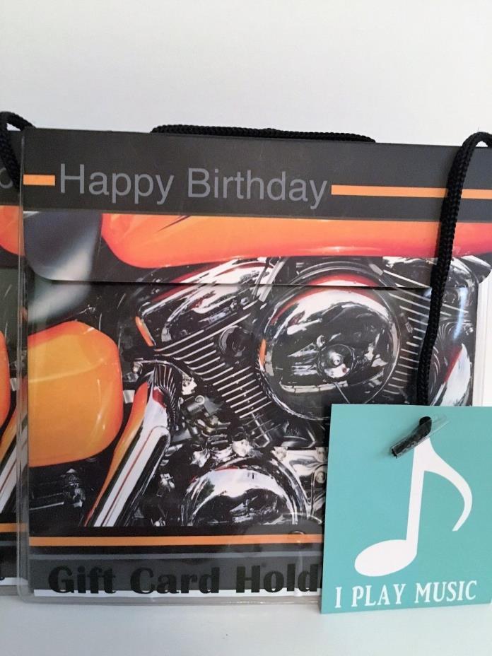 Jukebox Greetings Gift Card Holders Plays Leader of the Pack Motorcycle Design 3
