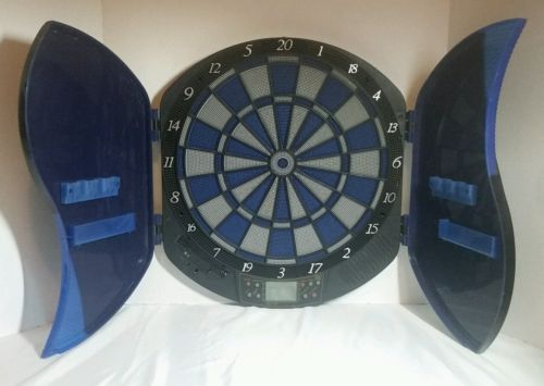 Halex Electronic Dart Board, For Parts or Repair, Partially Working Blue W/ Door