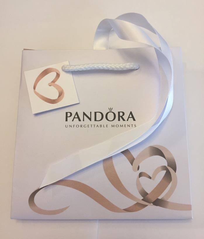 Pandora Jewelry Bag W/ Ribbon 6x6 Attached Card