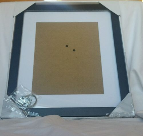 Malden linear wood matted 8x10 black picture frame