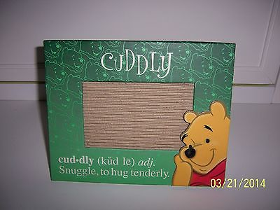 Winnie the POOH Disney Store Easel Back Table Top Picture Frame Cuddly Cute