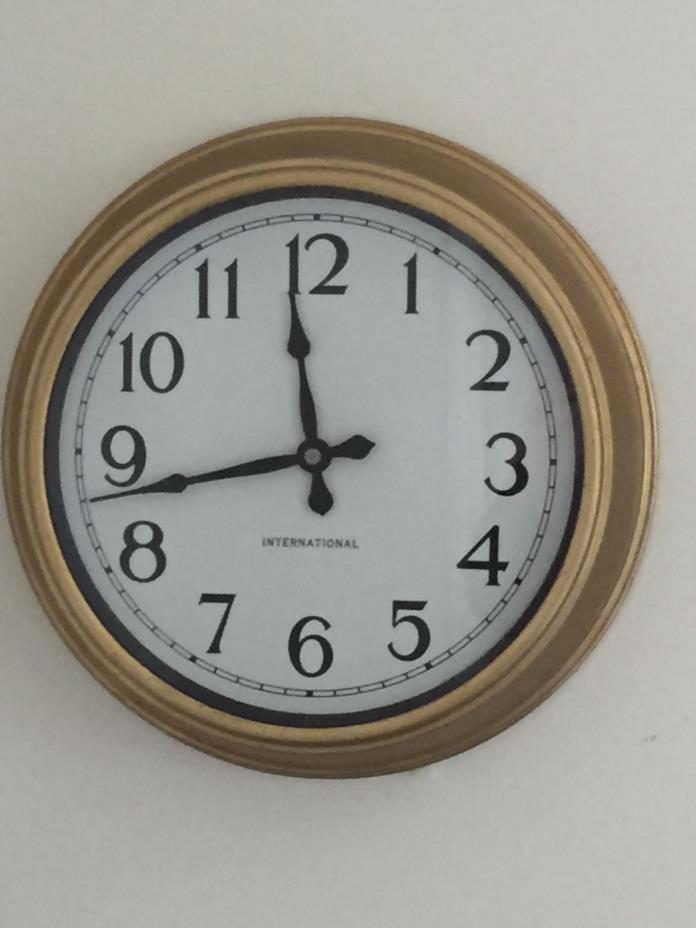 vintage International  wall clock